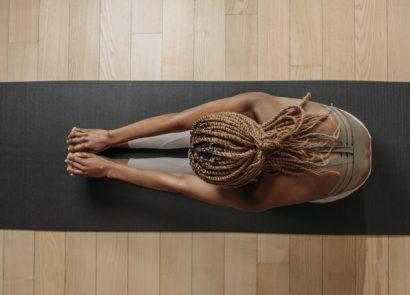 woman doing effective yoga workout
