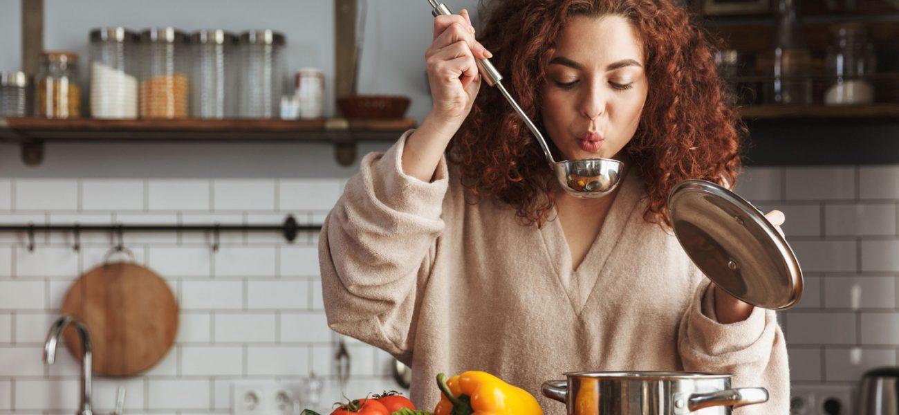 Woman enjoying a gluten-free diet