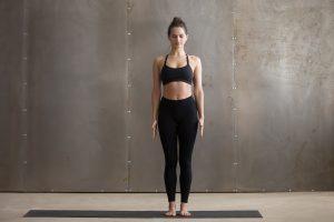 Woman standing yoga pose